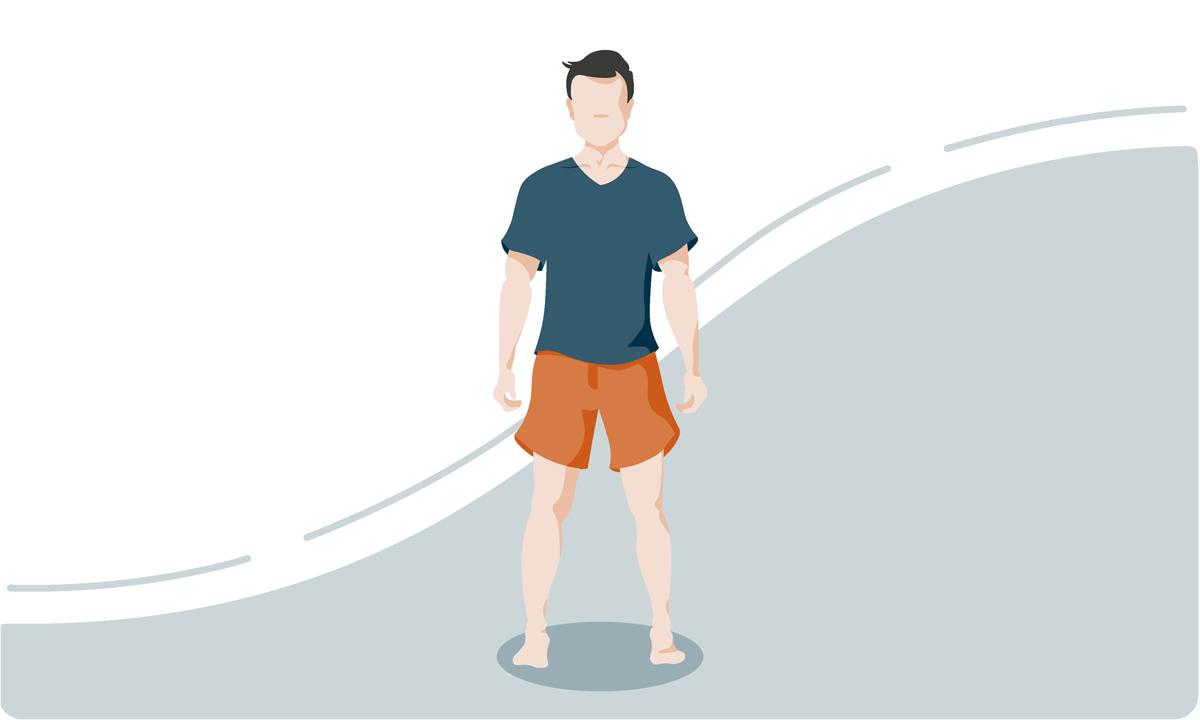 Normale Körperhaltung