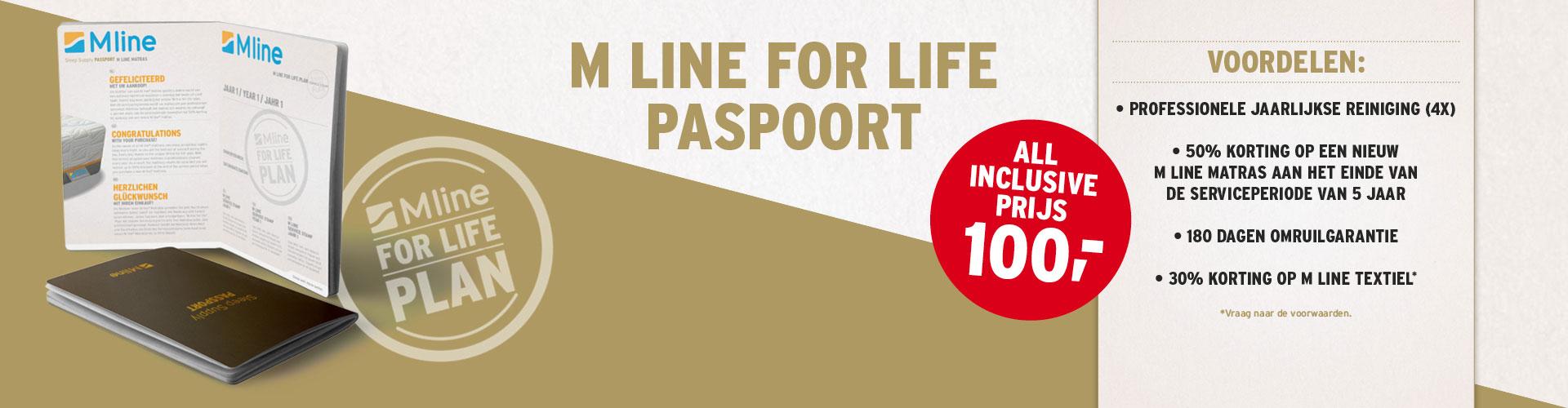 M line - Het M line paspoort. Een 'all inclusive service voor uw matras'. Uw matras wordt ieder jaar gereinigd.